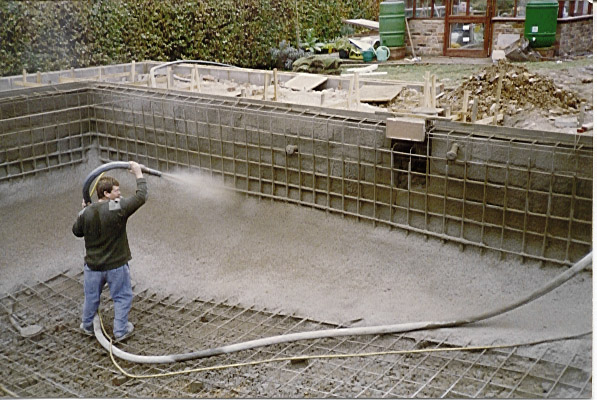 swimming pool construction Gunite Pool Construction