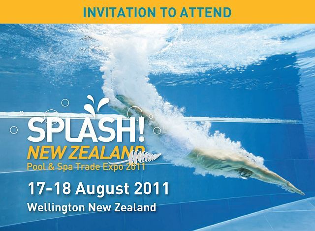New zealand pool spa show 17 18 august 2011 red for Pool spa trade show las vegas